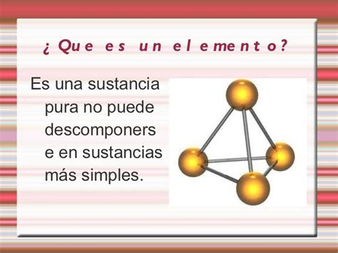 Trabajo de los elementos y compuestos