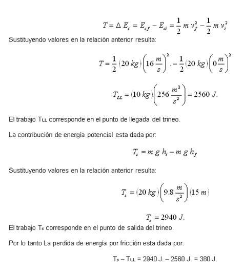 Trabajo, energía mecánica y potencia - Monografias.com