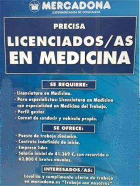 Trabajo para Médicos en Mercadona • SuperProductos