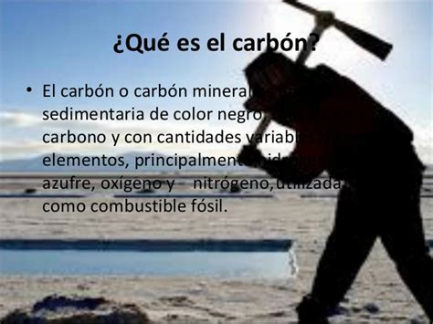 Trabajo sobre el carbón
