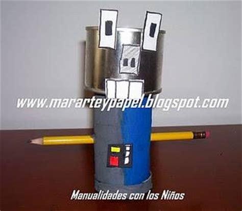 Trabajos manuales con cartón :: Carritos y robot ...