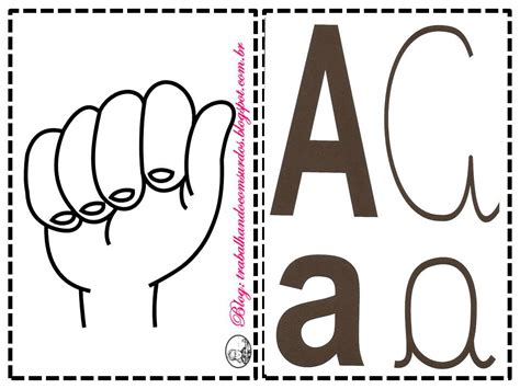 Trabalhando com Surdos: Libras: Alfabeto 4 Tipos de Letras ...
