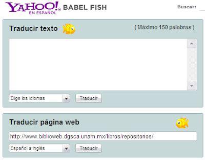 Traductor de textos Babel Fish   Dr. Gauss0686