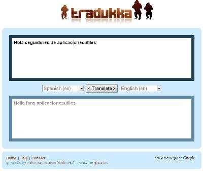 Tradukka: Traductor en línea - Aplicaciones Útiles