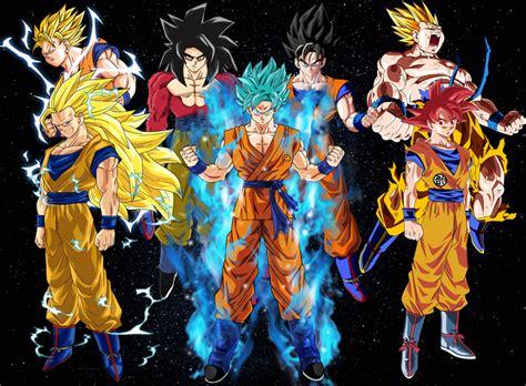 Transformaciones Hijos De Goku Y Vegeta
