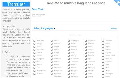 Translatr, página web para traducir un texto a múltiples ...