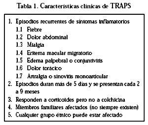 TRAPS, un síndrome autoinflamatorio: Casos cínicos