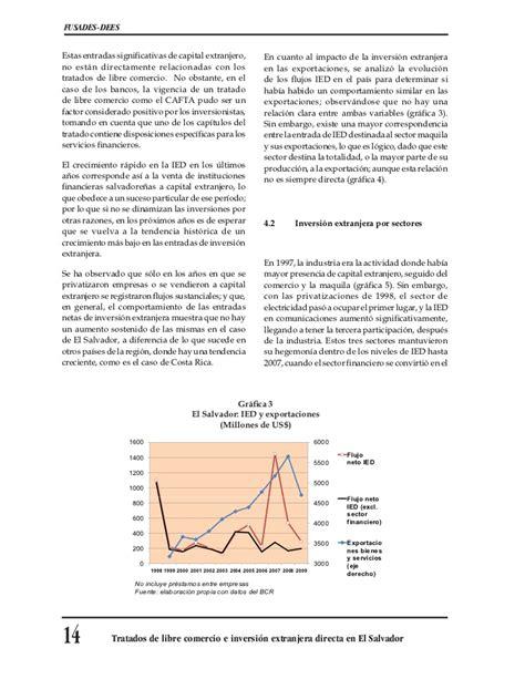 Tratados de libre comercio e inversión extranjera directa ...