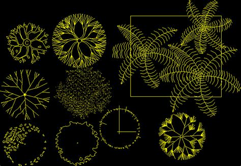 Trees and House Plants 2D DWG Block for AutoCAD • Designs CAD