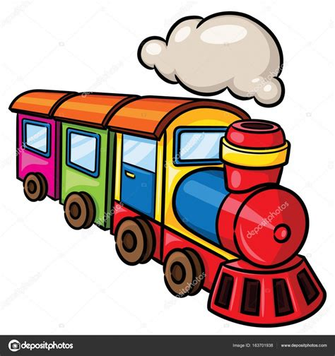 Tren de dibujos animados lindo — Archivo Imágenes ...