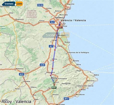 Trenes Alcoy Valencia baratos, billetes desde 10,00 ...