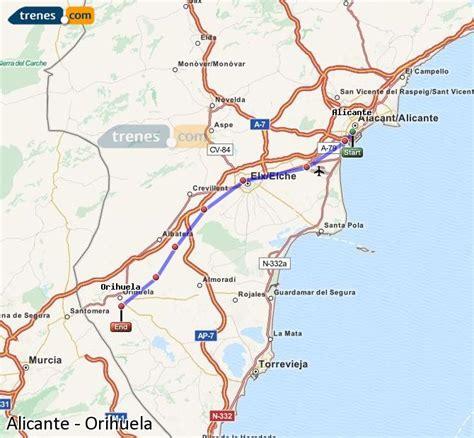 Trenes Alicante Orihuela baratos, billetes desde 12,55 ...