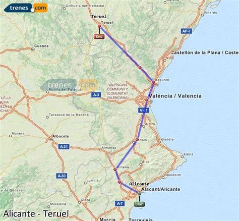 Trenes Alicante Teruel baratos, billetes desde 20,50 ...