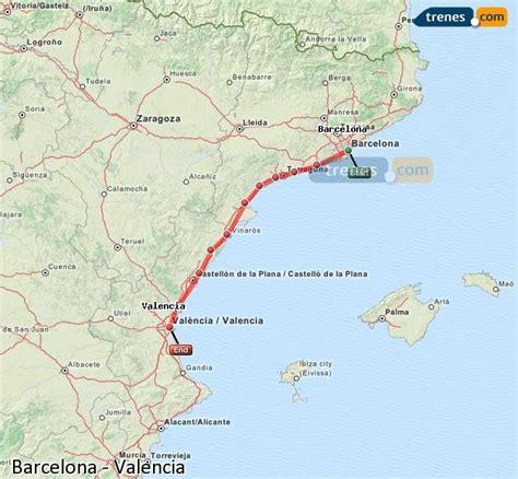 Trenes Barcelona Valencia baratos, billetes desde 16,30 ...