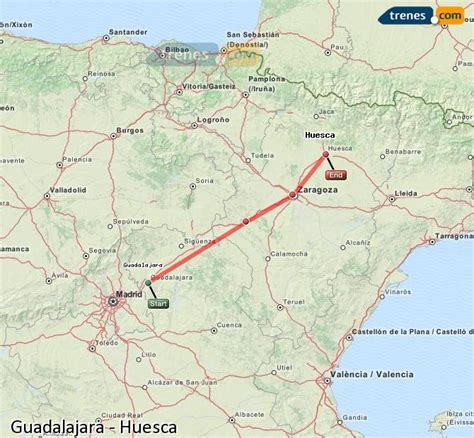 Trenes Guadalajara Huesca baratos, billetes desde 33,90 ...