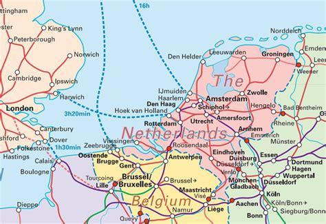 Trenes Holanda Mapa