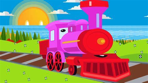 Trenes infantiles   Dibujos animados en español   El tren ...