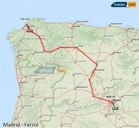 Trenes Madrid Ferrol baratos, billetes desde 17,60 ...