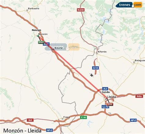 Trenes Monzón Lleida baratos, billetes desde 5,20 ...