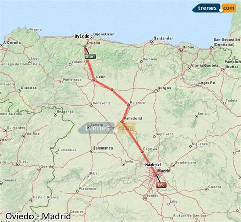 Trenes Oviedo Madrid baratos, billetes desde 16,40 ...