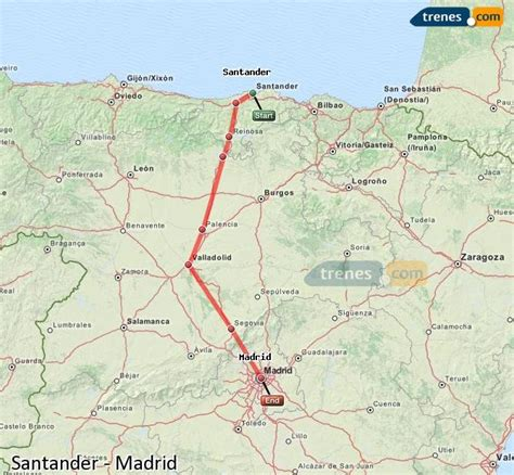 Trenes Santander Madrid baratos, billetes desde 26,85 ...