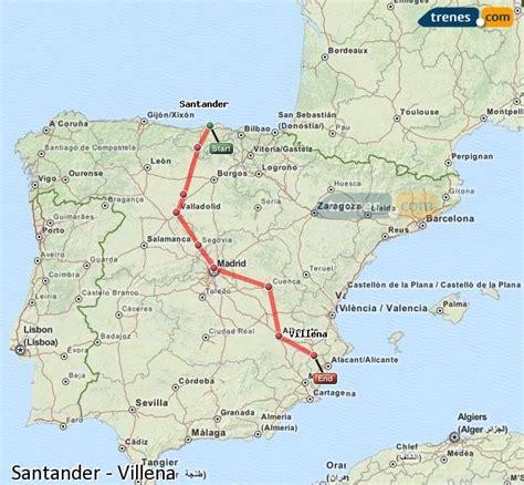 Trenes Santander Villena baratos, billetes desde 75,80 ...