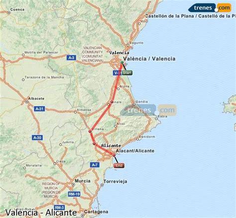 Trenes Valencia Alicante baratos, billetes desde 8,90 ...