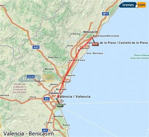 Trenes Valencia Benicasim baratos, billetes desde 4,30 ...