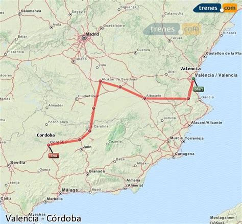 Trenes Valencia Córdoba baratos, billetes desde 25,85 ...