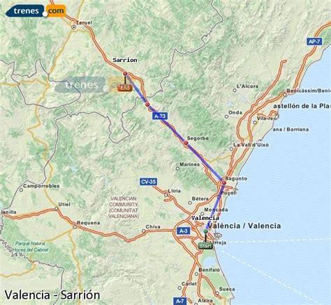 Trenes Valencia Sarrión baratos, billetes desde 8,15 ...