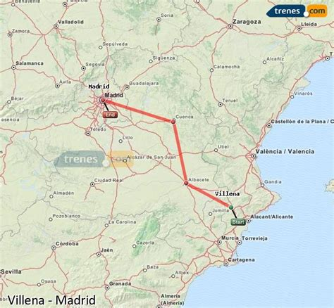 Trenes Villena Madrid baratos, billetes desde 17,80 ...