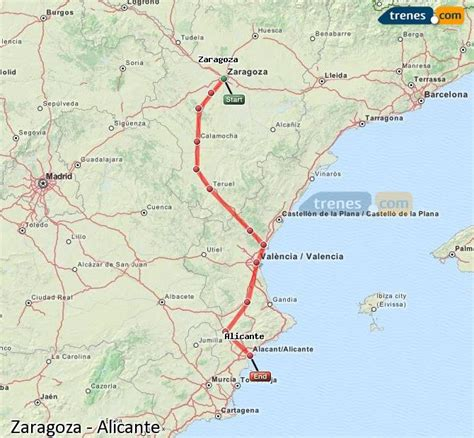 Trenes Zaragoza Alicante baratos, billetes desde 44,75 ...