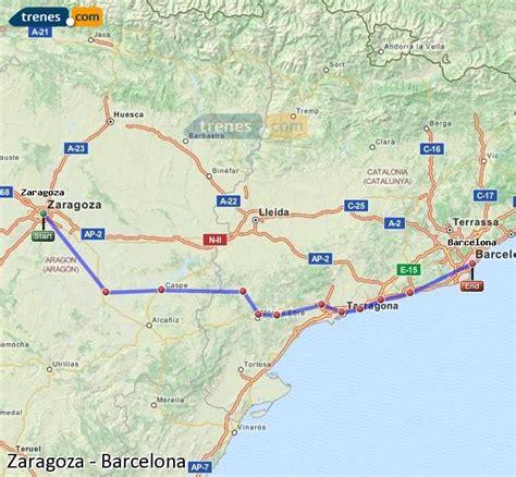 Trenes Zaragoza Barcelona baratos, billetes desde 18,05 ...