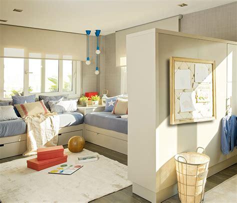 Tres dormitorios para dos: crecer y compartir