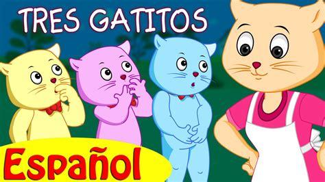 TRES GATITOS   Canciones infantiles en Español   ChuChu TV ...