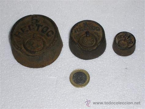 tres pesas antiguas de balanza *5 hectog     Comprar ...