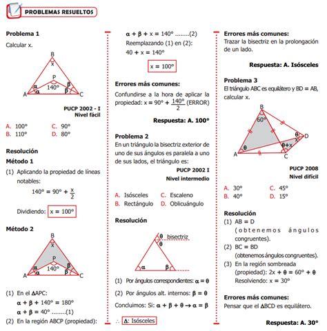 Triángulos   Problemas Resueltos   Geometría « Blog del ...