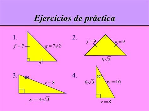 Triangulos rectángulos especiales