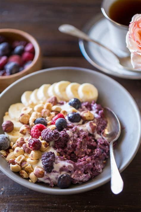 Triple Berry Oatmeal Breakfast Bowl   Lovely Little Kitchen