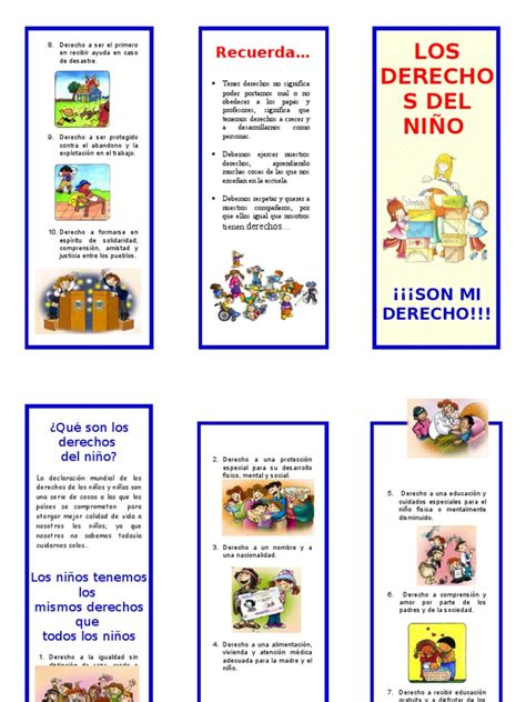 tríptico derechos del niño