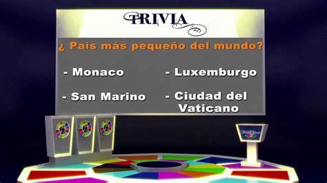 TRIVIA (ejemplo) - YouTube
