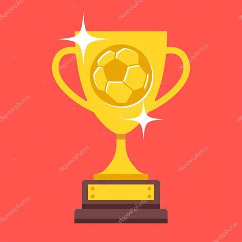 Trofeo de Copa de fútbol de vector. Copa de oro con pelota ...