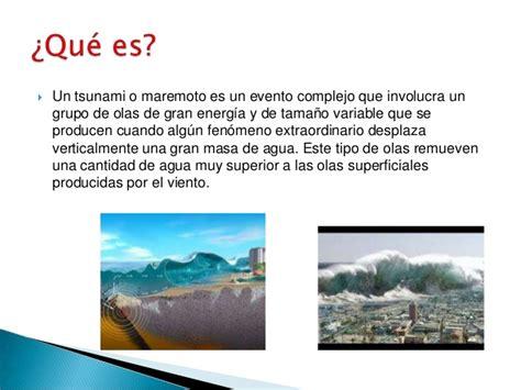 Tsunamis o maremotos proyecto