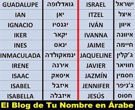 TU NOMBRE EN ÁRABE: 200 Nombres en Hebreo para tatuajes