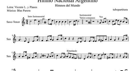 tubepartitura: Himno Nacional Argentino partitura para ...