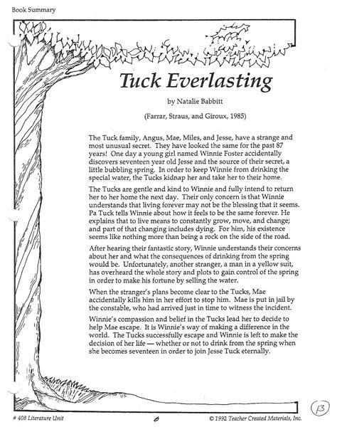 Tuck Everlasting Chapter Summaries - Bing images
