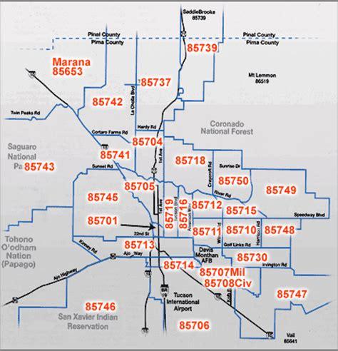 Tucson Zip Code Map   Like Success
