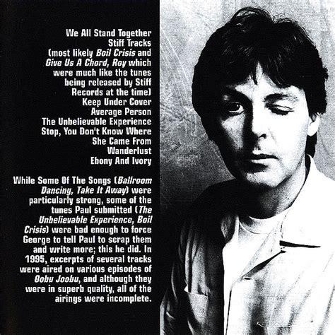 Tug Of War Demos (Unofficial album) by Paul McCartney ...