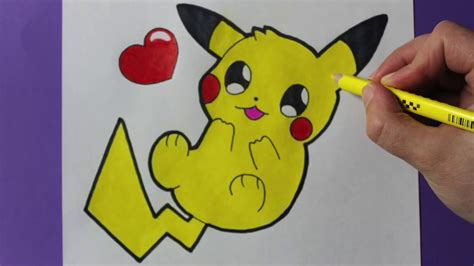 tutorial Como dibujar a Pikachu Kawaii :3   YouTube