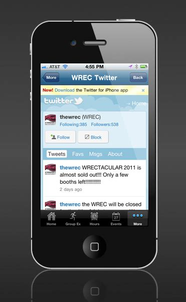 Twitter Integration   Shaw Mobile Apps